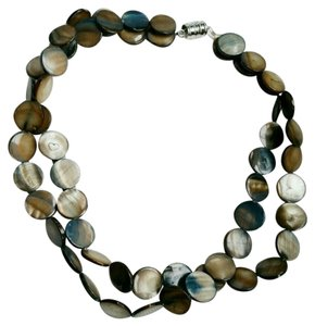 Like New Sea Tones Mother of Pearl Choker Necklace or Wrap Bracelet from China