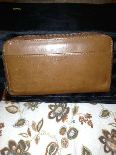 Coach CLASSIC LEATHER BROWN COACH WALLET