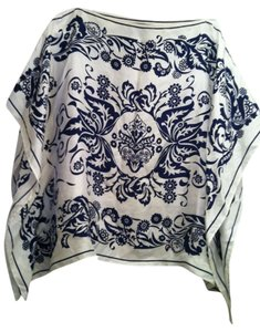 George Top navy blue and white