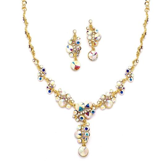 Preload https://img-static.tradesy.com/item/3424480/mariell-gold-ab-crystal-bubbles-with-pave-necklace-set-4150s-ab-g-earrings-0-0-540-540.jpg