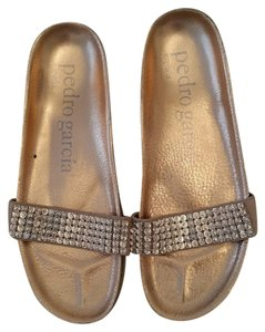Pedro Garcia Rose Gold with Swarovski crystals Sandals