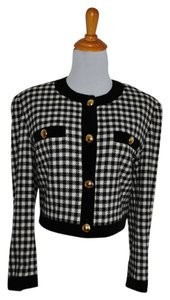 Escada Houndstooth Black Blazer