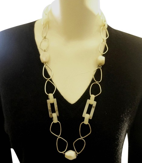 Other ImmI OOAK. Mother of Pearl Tortoise Lucite Chain Runway Necklace