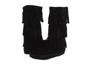 Minnetonka Suede Boot Black Boots