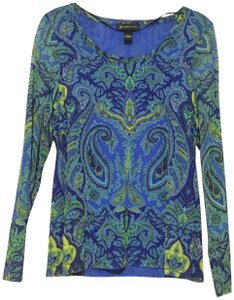 INC International Concepts Coral Hoodie Pockets Top Blue