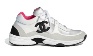 Chanel White/Silver/Pink Athletic
