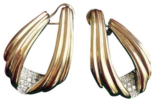 Other 14 Karat Gold And Diamond French Back Earrings