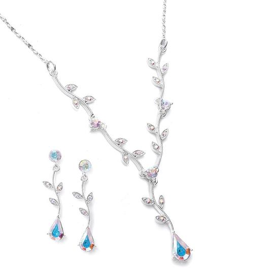 Mariell Ab Crystal Bridesmaid Or Prom with Vine 580s-ab Necklace