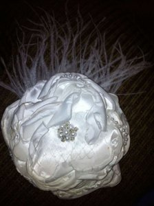 Satin & Pearl Hair Flower