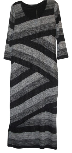Preload https://img-static.tradesy.com/item/3426310/ny-collection-black-and-silver-long-casual-maxi-dress-size-petite-12-l-0-0-650-650.jpg