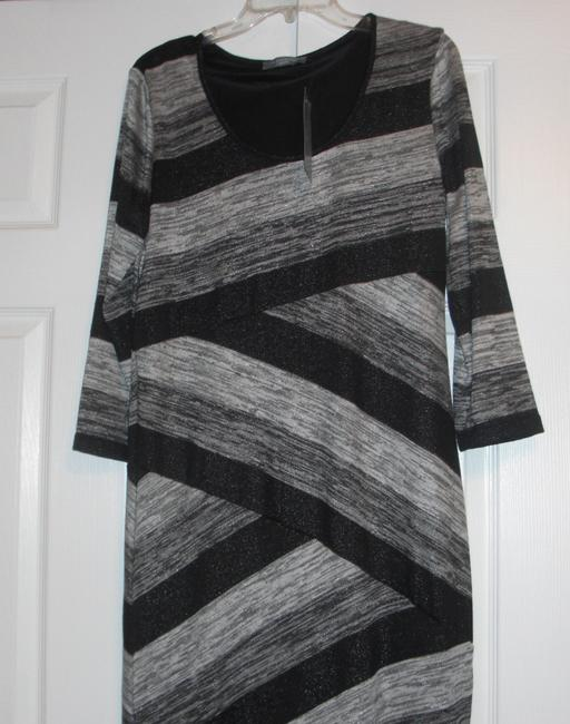 black and silver Maxi Dress by NY Collection Petite Long Pl Day To Evening