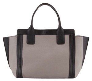 Chloé Tote in Cream And Black With White Leather Trim Interior