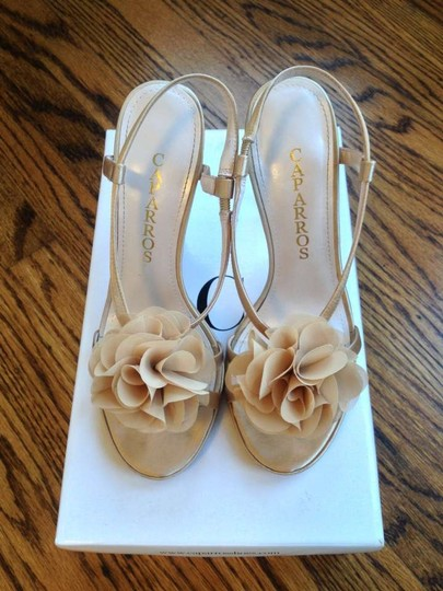 Caparros Nude Evening Wedding Bridesmaid champagne Sandals