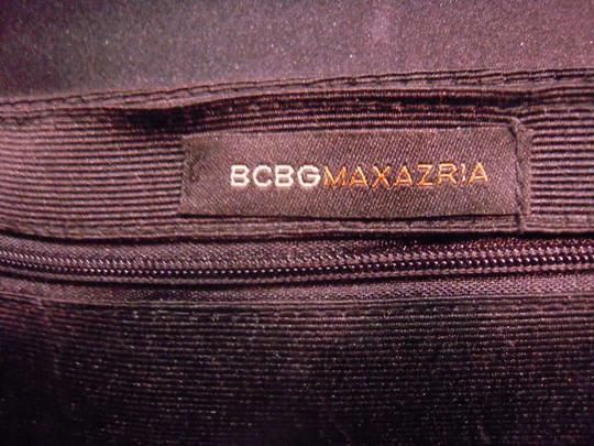 BCBGMAXAZRIA Satin Black Clutch
