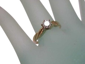 14k Yellow Gold Engagment Solitaire .50ct High Quality Diamond Ring