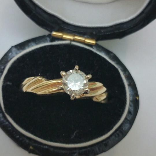 Other 14k Yellow Gold Engagment Solitaire .50ct High Quality Diamond Ring
