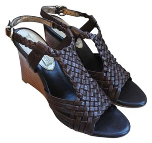Banana Republic Leather Wedge chocolate brown Wedges
