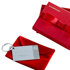 Starbucks 2014 Limited-Edition Starbucks Sterling Silver Keychain Card With $50 Credit Loaded On The Card.