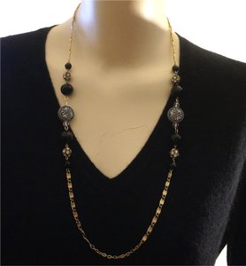 Limited Edition French Jet Swarovski Crystal Bead Necklace