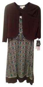 Studio One short dress Brown, green, blue Brown Green Jcpenney on Tradesy