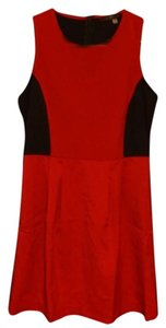 Fun 2 Fun Two Toned Tank Casual Retro Red Sleeveless Dress