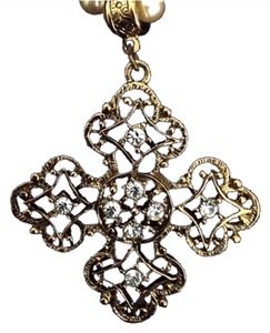 1928 Pearl Choker Cross Pendant Necklace