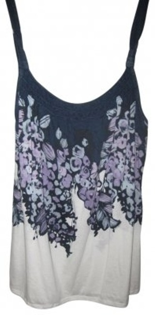 Preload https://img-static.tradesy.com/item/34272/american-eagle-outfitters-blue-purple-white-floral-tank-topcami-size-8-m-0-0-650-650.jpg