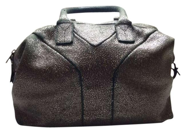 Item - Easy Silver Gold Leather Tote
