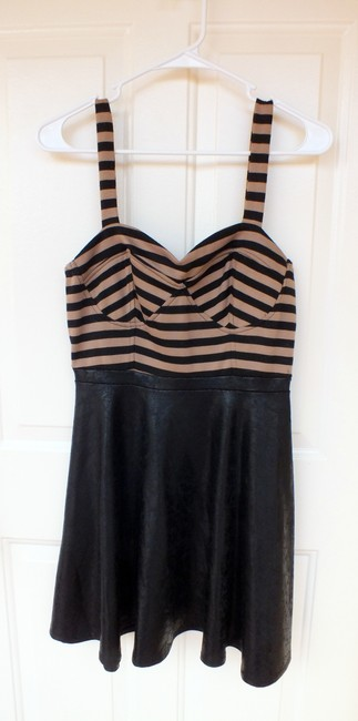 Charlotte Russe New Faux Leather Stripes Fancy Dress