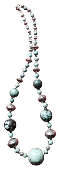 No Boundaries Turquoise And Sterling Silver Necklace