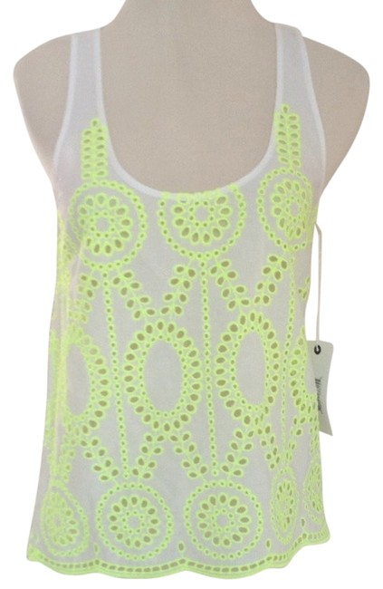 Preload https://item1.tradesy.com/images/dolce-vita-white-with-neon-yellow-fioney-blouse-size-2-xs-3427765-0-0.jpg?width=400&height=650