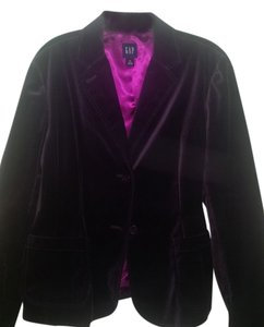 Gap Velvet Purple Blazer