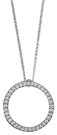 Roberto Coin Brand New Roberto Coin Circle Of Life Diamond Pendant Necklace in 18K White Gold