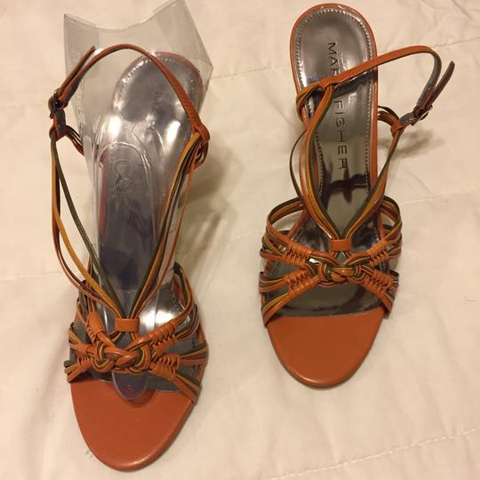 Marc Fisher Burnt Orange/olive green Sandals