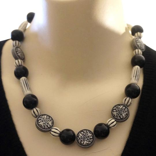 Other Limited Edition Tribal Zebra Stripe Day Night Necklace by ImmI