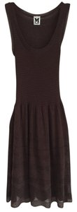 M Missoni short dress Brown on Tradesy
