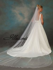 Illusions Bridal White Long Cathedral Length Veil