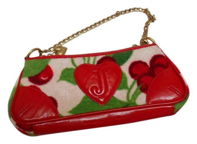 Item - Cherry Satchel Red and Other Fabric Accents Clutch