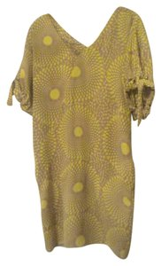 Rachel Roy short dress Taupe/ Yellow Summer Bold Print on Tradesy