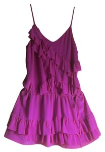Banana Republic short dress Magenta Summer Ruffles on Tradesy
