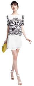 Romeo & Juliet Couture short dress Shift Black And White Summer Chiffon on Tradesy
