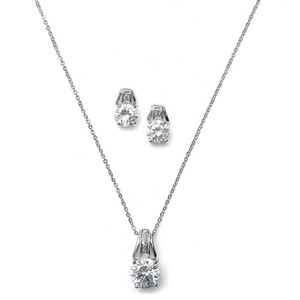 Mariell Cz Art Deco Bridal Necklace Set 2039s