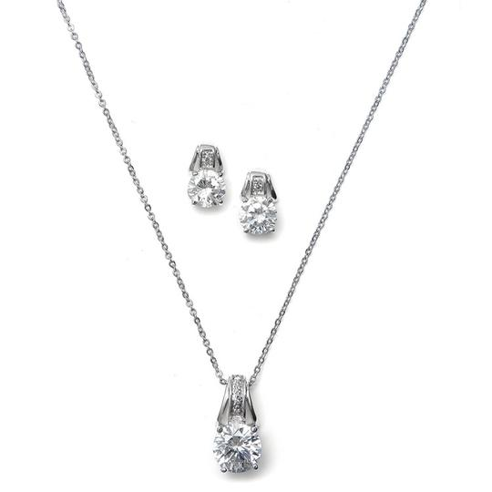 Preload https://img-static.tradesy.com/item/3429184/mariell-silver-cz-art-deco-2039s-necklace-0-0-540-540.jpg