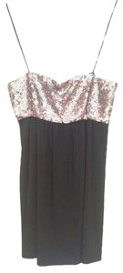 Theory Strapless Sequins Mini Dress