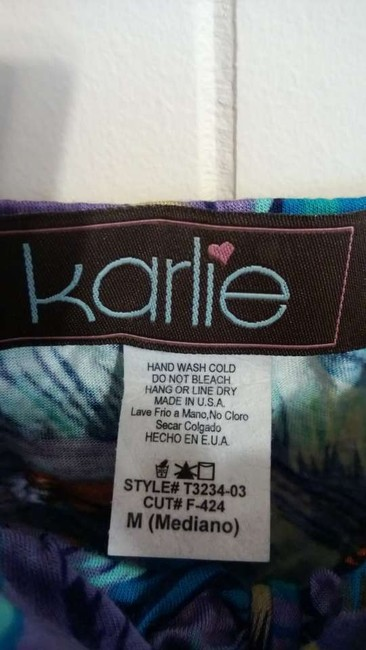 Karlie blue, purple, orange, black, white, beige Halter Top