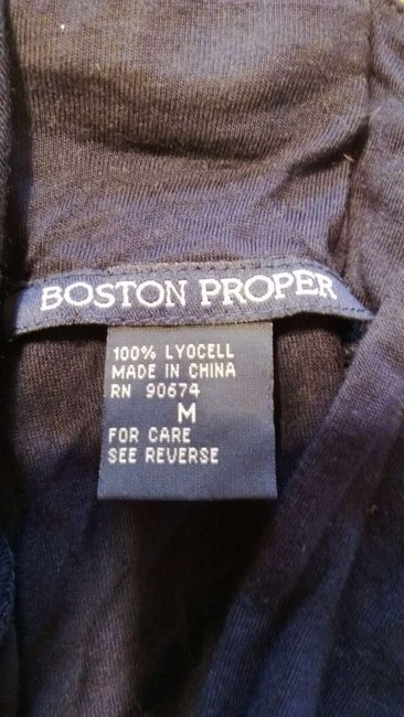 Boston Proper Top navy blue and gold