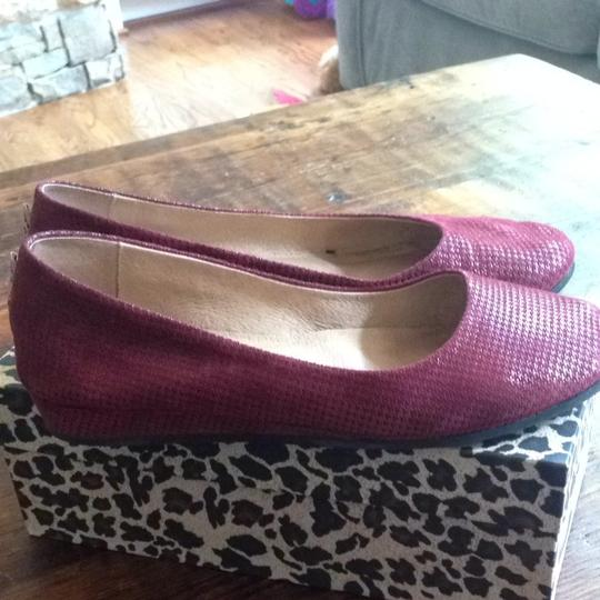 French Sole Zeppa Fn/ny Red Suede Cherry Flats