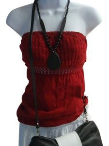 Lirome Sexy Chic Casual Top Red