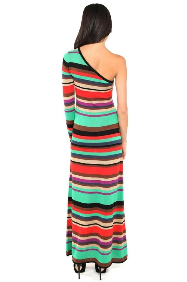 Multicolor BCBGMAXAZRIA One Stripe BCBG Dress Shoulder Maxi wZZqPpH