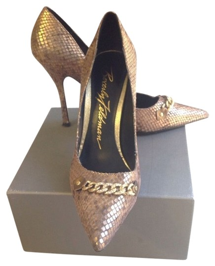 Beverly Feldman Gold/Bronze Pumps